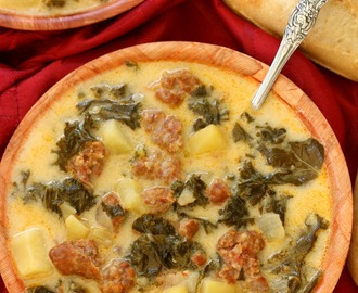 Copycat Olive Garden Zuppa Toscana Soup {Crock Pot Friendly}