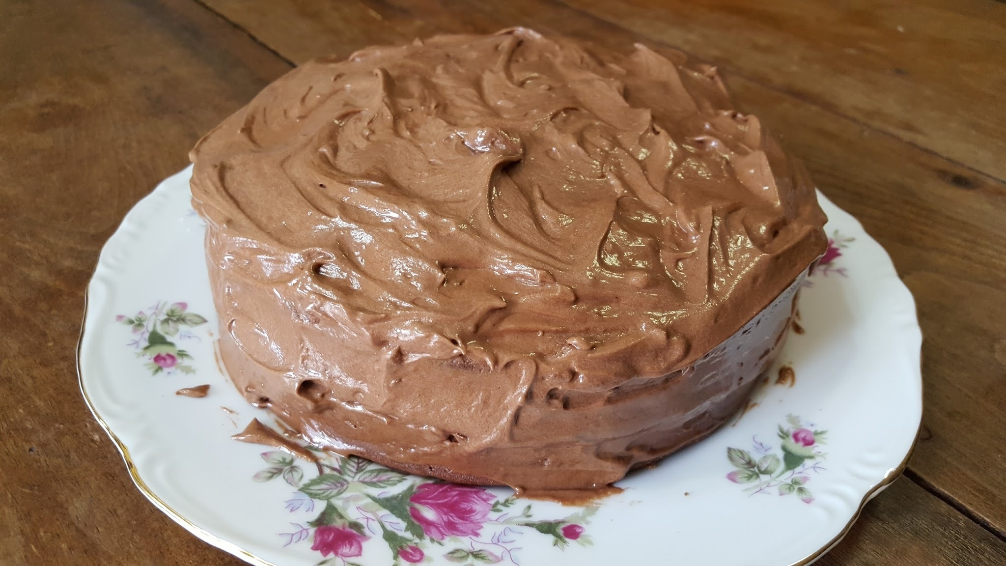 MIDNIGHT CAKE with CHOCOLATE PEANUT BUTTER FROSTING