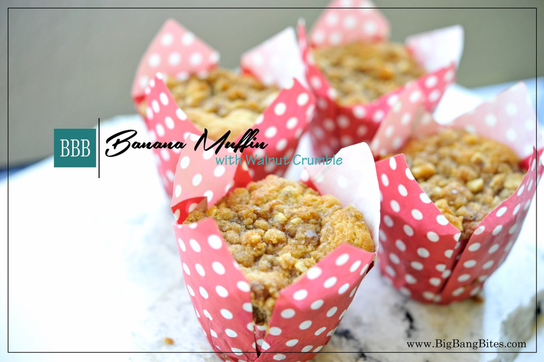 Banana Muffins with Walnut Crumble