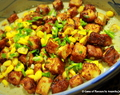 Golden Fried Paneer with Spicy Curd Sauce