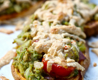 Paleo Tuna Melts on Sweet Potato Toast [gluten-free and dairy-free]