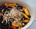 Vegan Blueberry Peach Almond Crisp