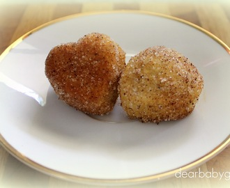 Cinnamon & Sugar crusted Love Cakes: tweaked for Thermomix
