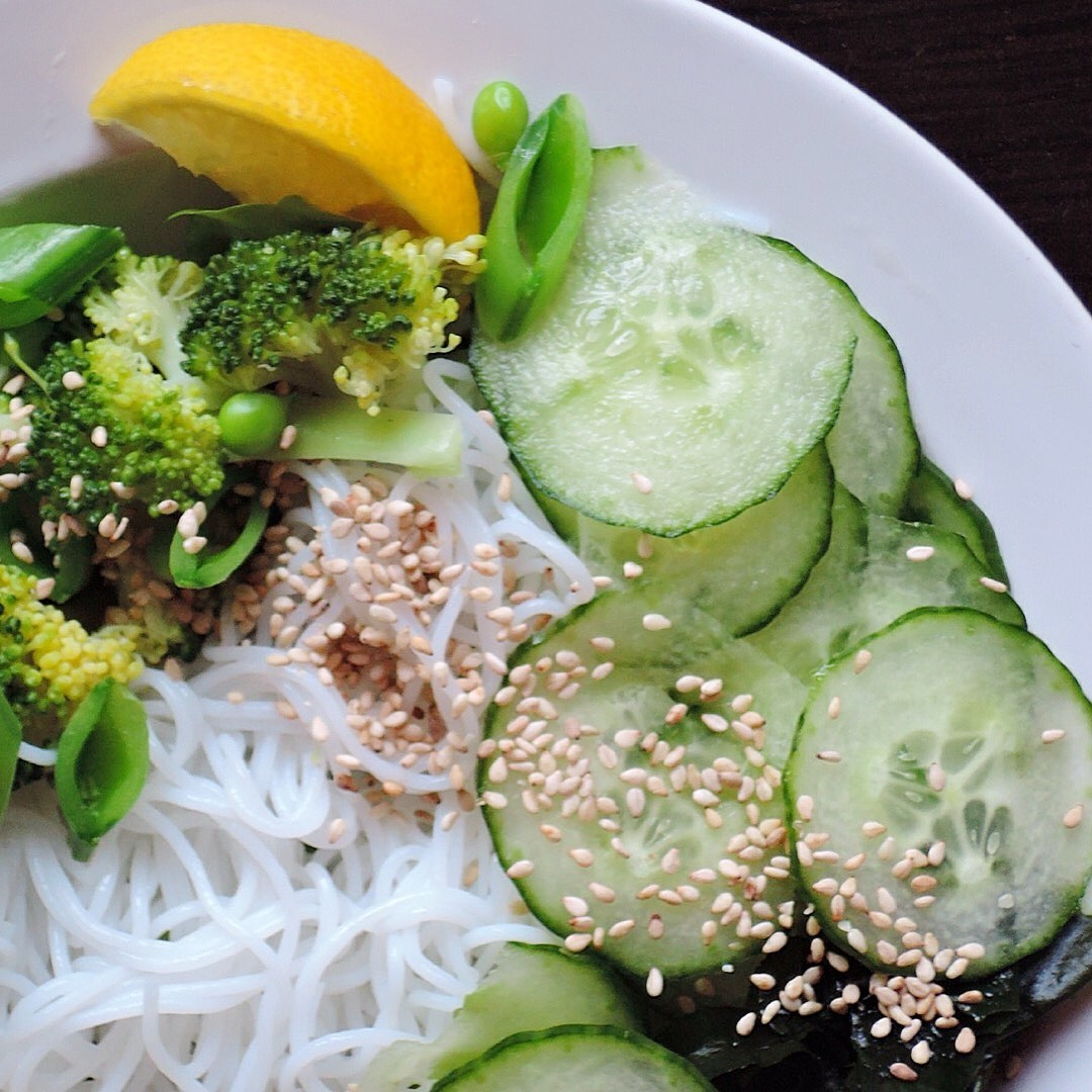 Noodle Salad with an Asian Sesame Dressing