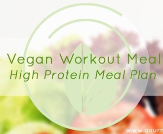 Vegan Workout Meal Plan | High Protein Meal Plan | Free Printable