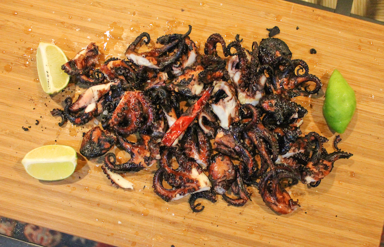 Grilled Baby Octopus #SundaySupper