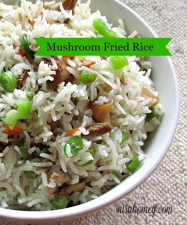 Mushroom Fried Rice Recipe - Kids Lunch Box Recipes