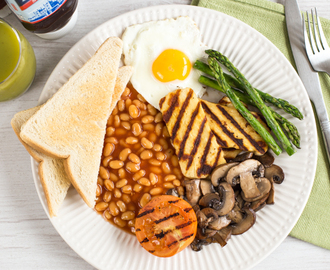 Vegetarian full English breakfast
