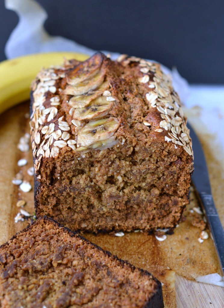 Oatmeal banana bread | Eggless banana bread