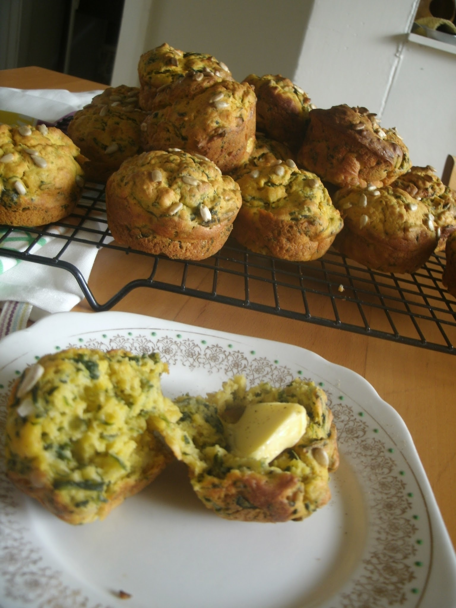 simple savoury muffins with left-over soup