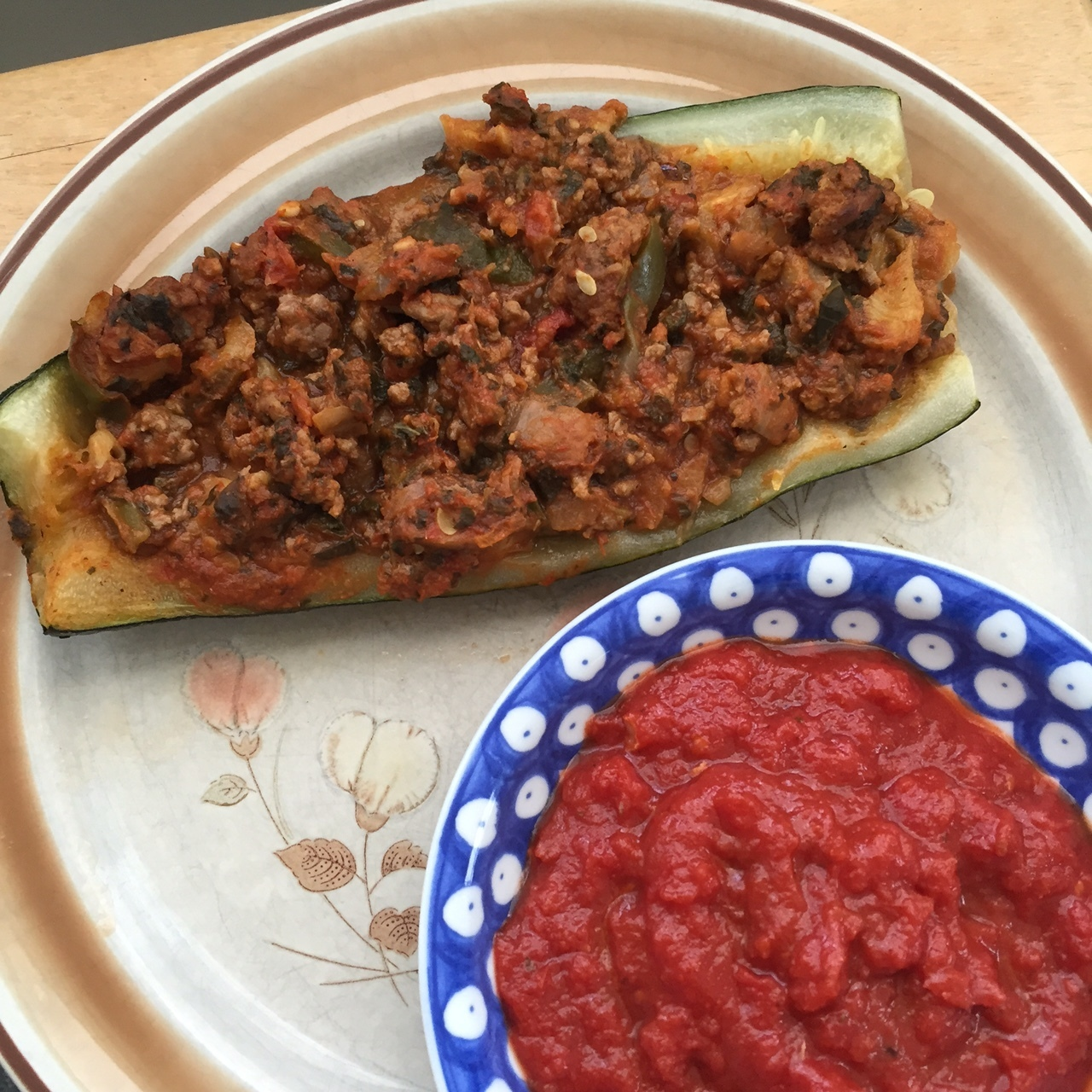 I'm Back! With a Baked Stuffed Zucchini Recipe