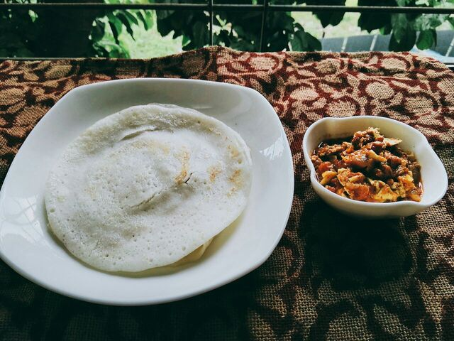 Appam and Egg curry