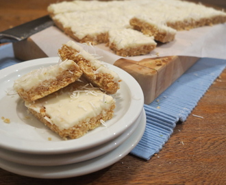 Lemon & Lime Coconut Slice