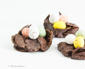 Chocolate Eggs Nests for Easter
