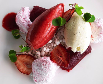 Strawberry Jelly, Marshmallow, 'Chips' and Sorbet