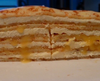Lemon and Lime Crepe Cake