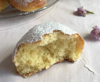 Brioche all'acqua profumate al limoncello