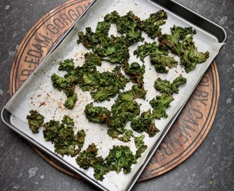 How to make Kale Chips with Chilli, Coriander and Cumin Salt