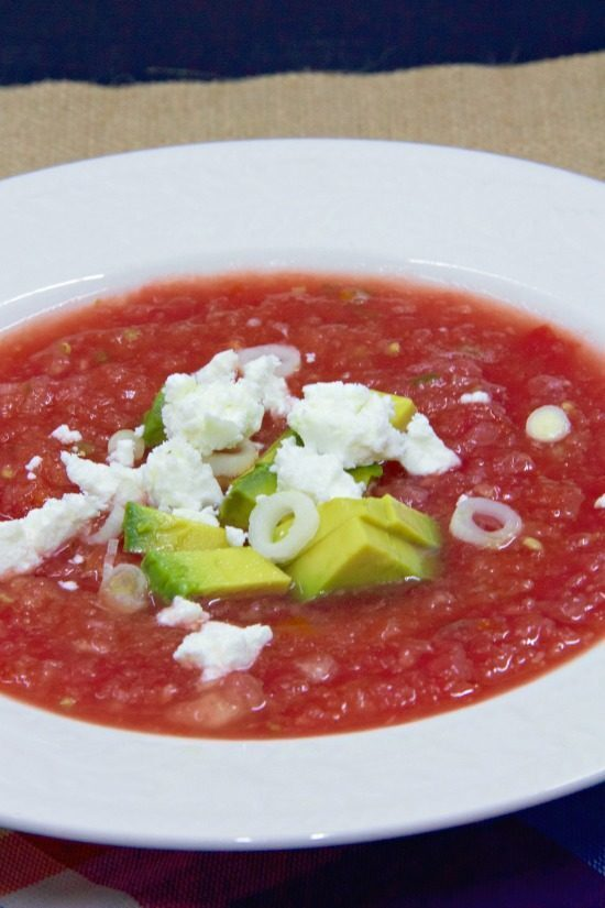 Watermelon Gazpacho with Goat Cheese #CIC