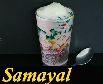 Falooda Recipe in Tamil / How to make Falooda in Tamil