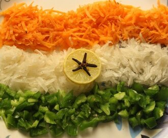 Tiranga salad recipe – How to make tiranga salad recipe – Indian recipes