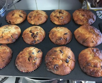 White Chocolate, Craisin and Lemon Muffins - Perfect for The Lunch Box