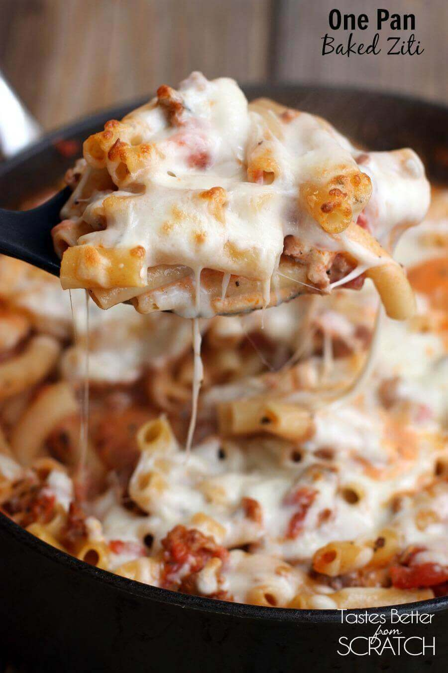 One Pan Baked Ziti