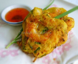 Prawn Fritters or Cucur Udang