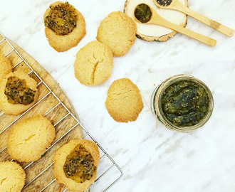 Galletas de arroz y mermelada de kiwi