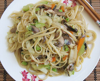 Vegetables Noodles Stir-Fry  蔬菜炒面