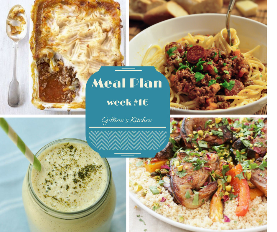 Weekly Meal Plan (Week 16)