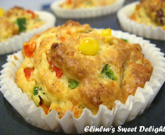 Savoury Corn Kernels & Bacon Bits Muffin