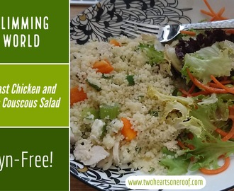 Slimming World Feta and Roast Chicken Couscous Salad
