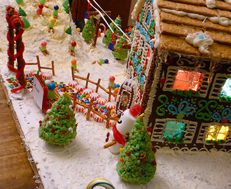 Ski Resort Gingerbread House