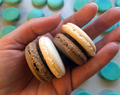 Two Colored Macarons