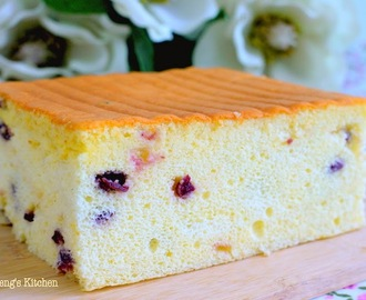 Cranberry Yogurt Orgura Cake