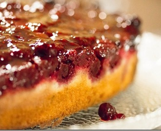 Raspberry & Almond Upside Down Cake