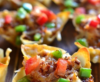 Southwest Chicken Wonton Cups