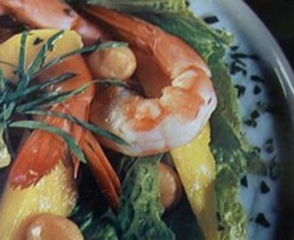 Prawn mango and avocado salad
