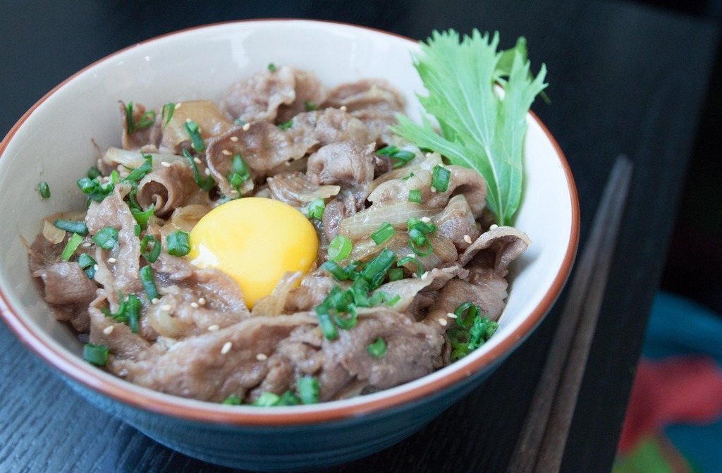 Japanese Comfort Food - Gyudon (Beef and Rice Bowl) for Two