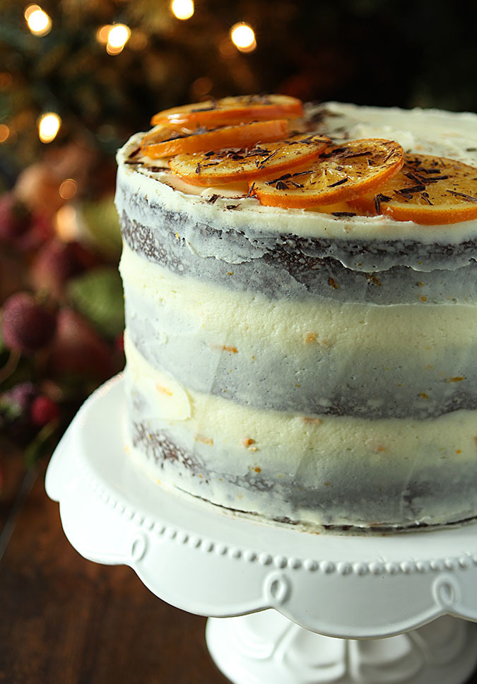 Chocolate Orange Stout Cake with Orange Buttercream Frosting