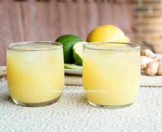 Lemon Ginger pineapple Juice recipe