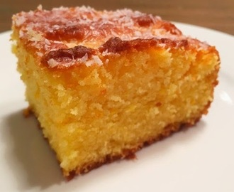 Whole Orange Semolina Cake with Lemon Drizzle (Recipe)