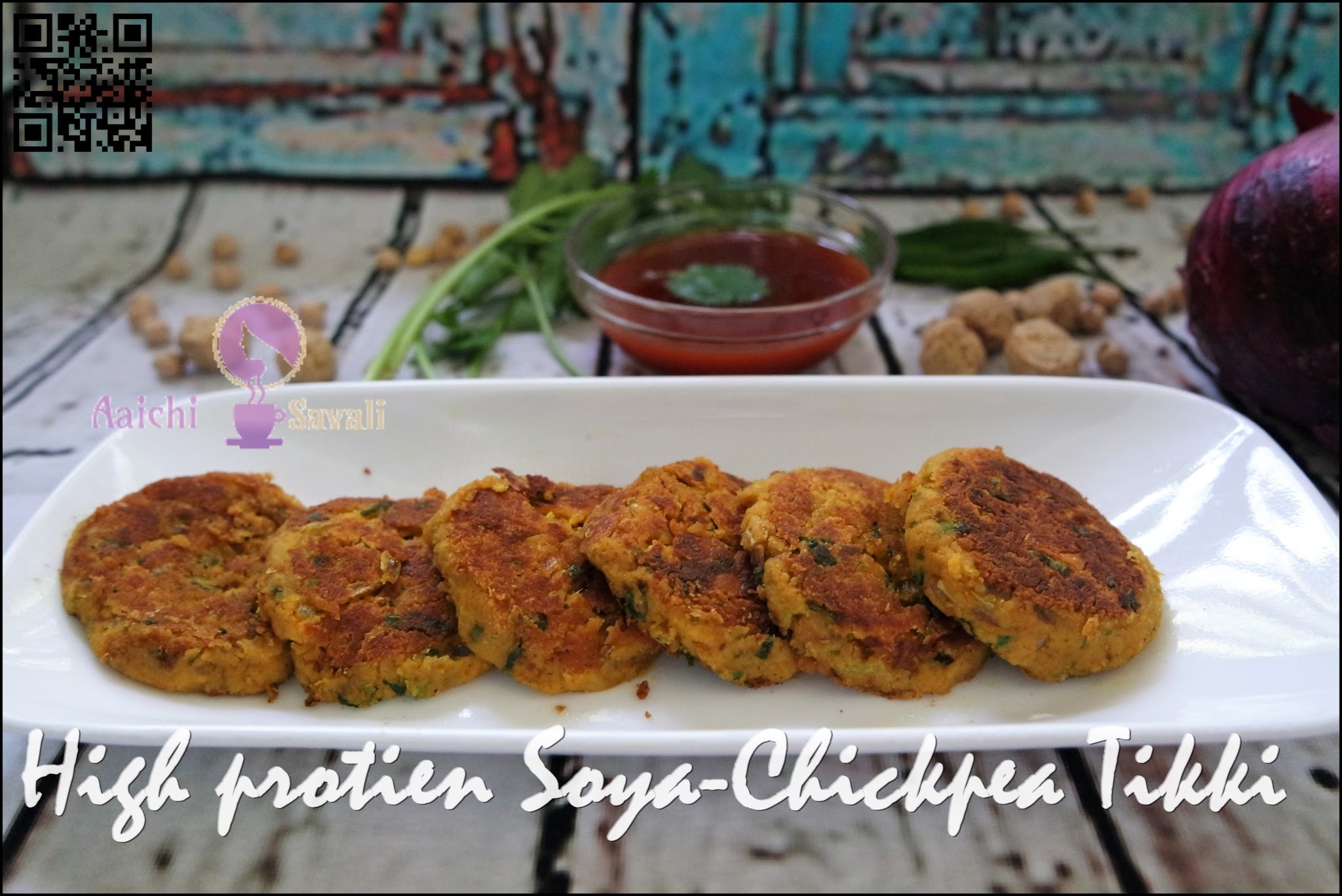 High Protein and Low Calorie: Soya-Chickpea Tikki