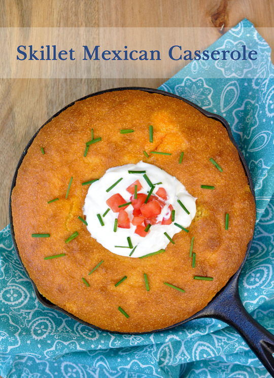 Skillet Mexican Casserole With Corn Bread Topping