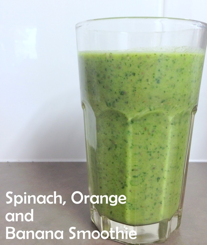 Day 4: Banana, Orange and Spinach Smoothie