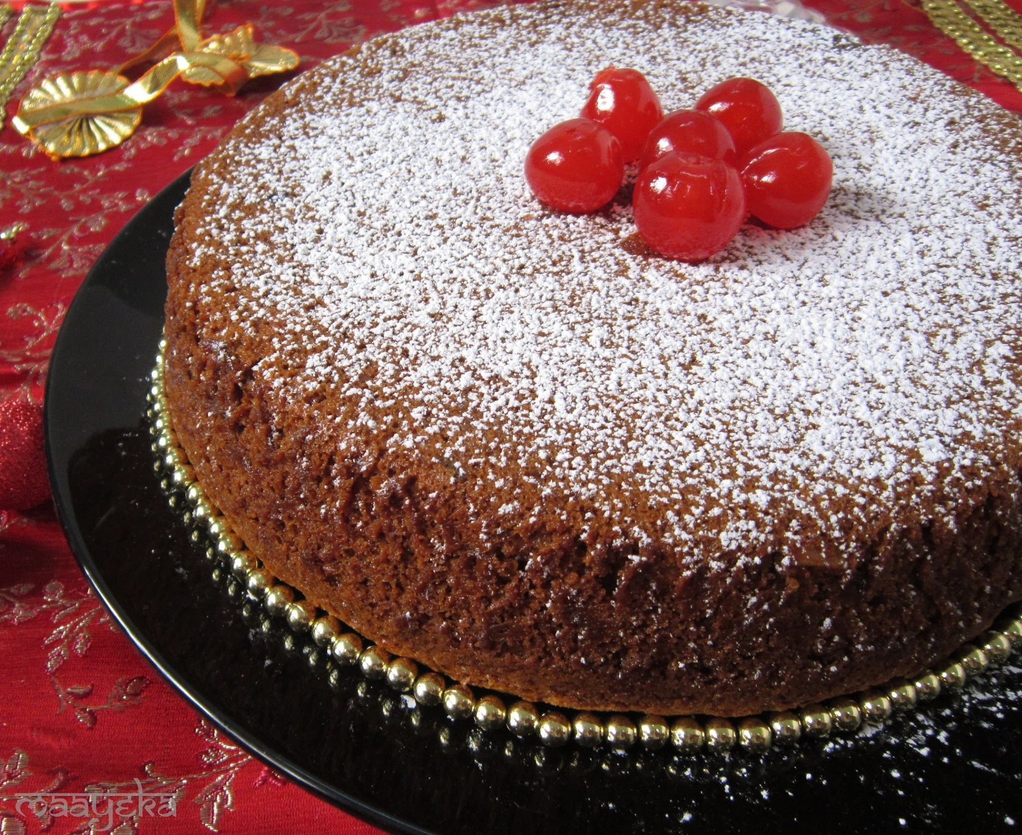 Eggless Fruit and Nut Cake