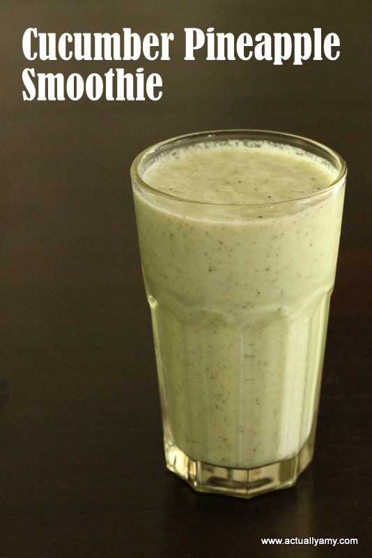Cucumber and Pineapple Smoothie