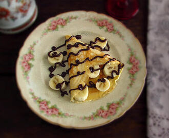 Crepes com banana e chocolate | Food From Portugal