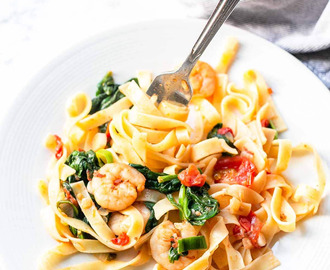 Shrimp Spinach Pasta